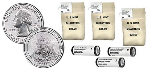 2012 S Parks Quarter Hawaii Volcanoes Gem Deep Cameo Proof 90/% Silver US Coin