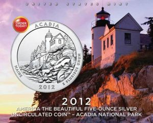 2012-P Acadia National Park 5 Oz Silver Uncirculated Coin