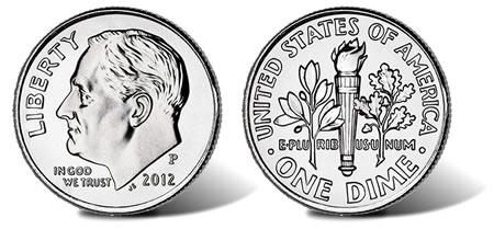 2012 Roosevelt Dime