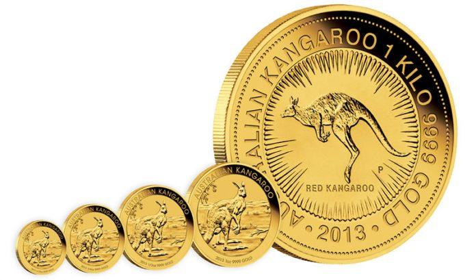 2013 Australian Kangaroo Gold Bullion Coins