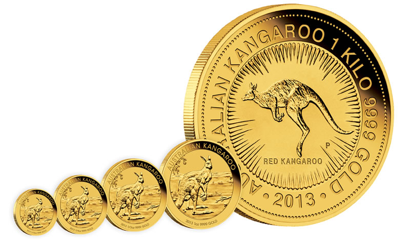 2013 Australian Kangaroo Gold Bullion Coins And Mintages