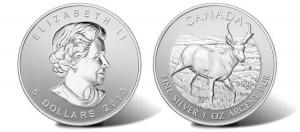 2013 Pronghorn Antelope Silver Bullion Coin