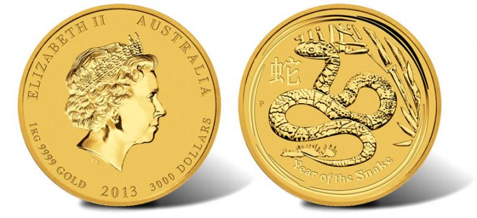 2013 Year of the Snake Gold Bullion Coin