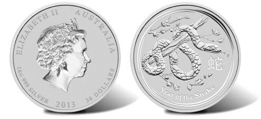 2013 Year of the Snake Silver Bullion Coin