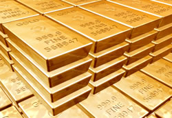 9999 fine gold bars