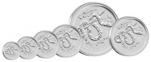Australian 2013 Year of the Snake Silver Bullion Coins