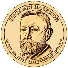 Benjamin Harrison Presidential $1 Coin