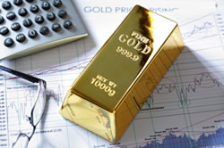 Gold bar and chart