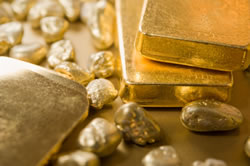 Gold bars, nuggets