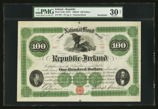 Ireland National Bond of the Republic of Ireland $100