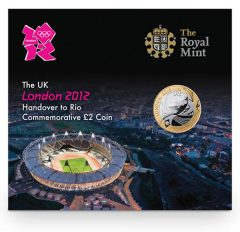 London to Rio Olympic Games Handover Brilliant Uncirculated Coin