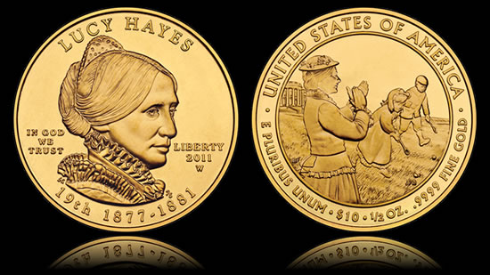 Higher Us Gold Coin Prices Lucy Hayes Uncirculated Coin