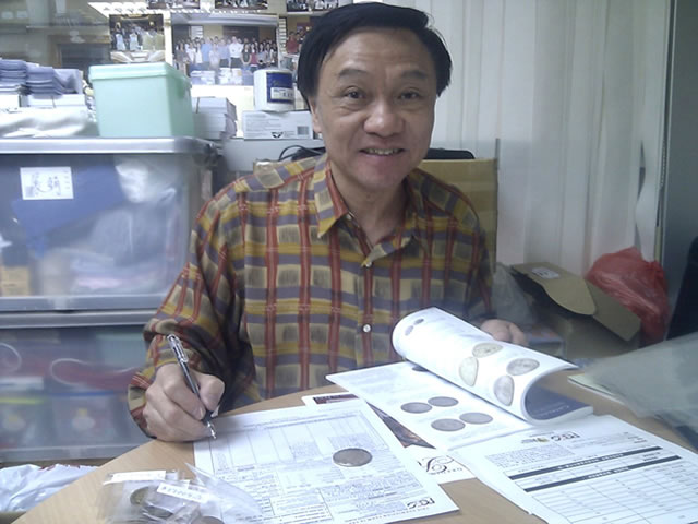 Ma Tak Wo submitting coins to PCGS
