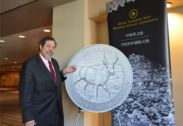 Michael Fuljenz with Pronghorn Antelope coin