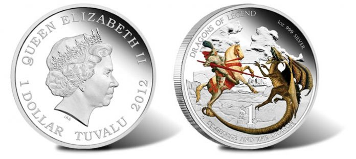 St. George and the Dragon Silver Proof Coin