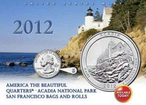 US Mint image of 2012-S Acadia Quarter