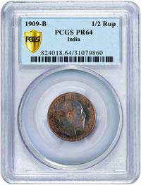 1909-B Proof 1/2 Rupe