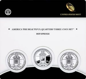 2010 Hot Springs National Park Quarters Three-Coin Set
