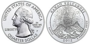 2012-P Hawaii Volcanoes National Park 5 Oz Silver Uncirculated Coin