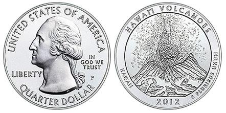 2012-P Hawai'i Volcanoes National Park 5 Oz Silver Uncirculated Coin
