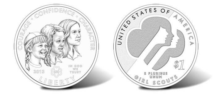 2013 Girl Scouts USA Centennial Silver Dollar
