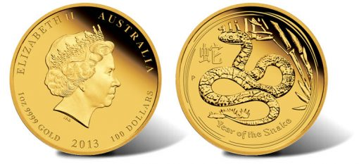 2013 Year of the Snake Gold Proof Coin