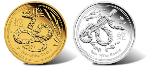 2013 Year of the Snake Gold and Silver Proof Coins