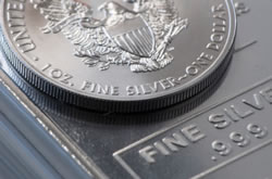American Silver Eagle Coin and Silver Bar
