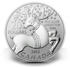 Canadian $20 Magical Reindeer Silver Coin