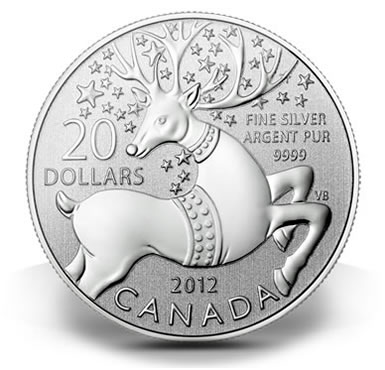 Canadian 20 Magical Reindeer Silver Coin For 20 Coin News