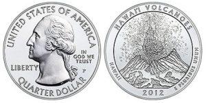 Hawaii Volcanoes 5 Oz Silver Coin