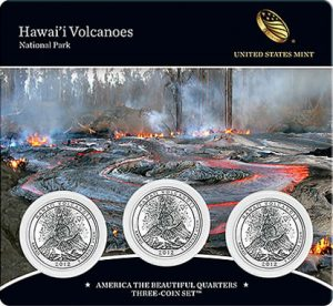 Hawai'i Volcanoes National Park Quarters Three-Coin Set