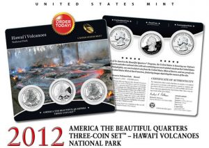 Hawai'i Volcanoes Quarter Three-Coin Set
