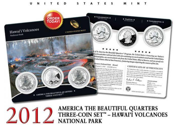 Hawai'i Volcanoes Quarter Three-Coin Set