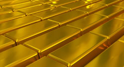 Layers of gold bars