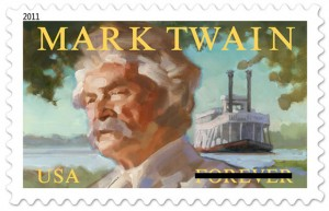 Mark Twain Forever commemorative stamp