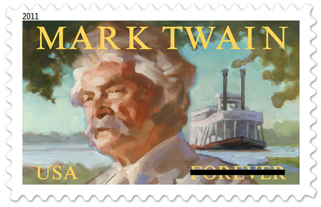 Mark Twain Forever commemorative stamp