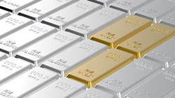 Platinum and gold bars