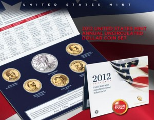 US Mint 2012 Annual Uncirculated Dollar Coin Set