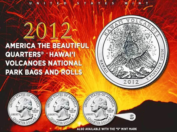 US Mint image of Hawai'i Volcanoes National Park Quarters