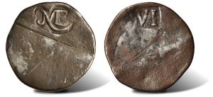 1652 Sixpence Coin