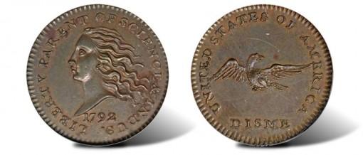 1792 Disme in Copper