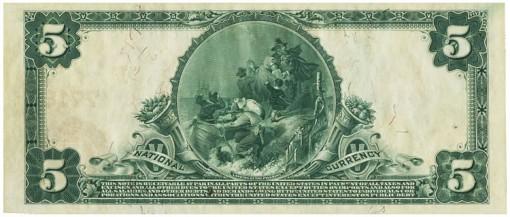 1905 Fairbanks $5 Back PCGS Cur 63
