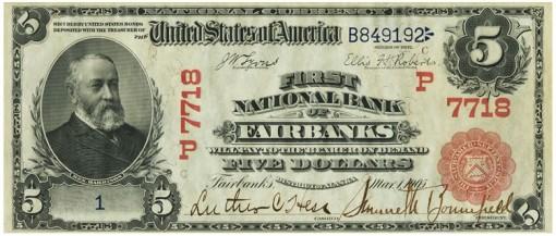1905 Fairbanks $5 front PCGS Cur 63
