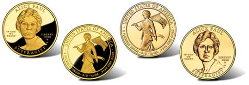 2012 Alice Paul Suffrage Movement Gold Coins