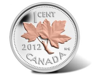 2012 Canadian Farewell to the Penny 1/2 oz Silver 1 Cent Coin