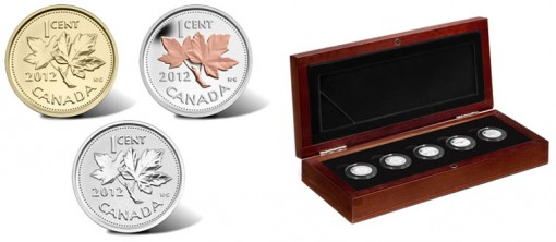 2012 Canadian Farewell to the Penny 1 Cent Coins