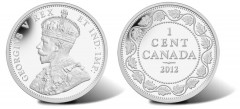 2012 Canadian Small Leaves Design (1911-1920) 1 Cent Silver Coin
