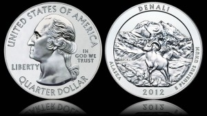 2012 Denali National Park Five Ounce Silver Bullion Coin