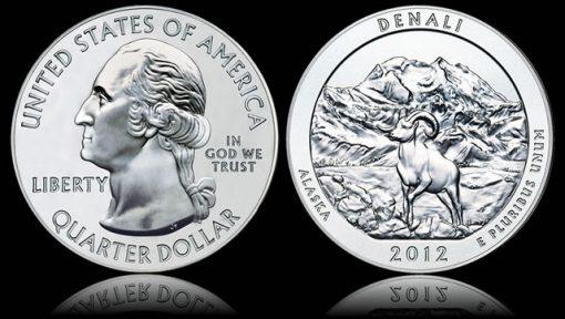2012 Denali National Park Five Ounce Silver Bullion Coin